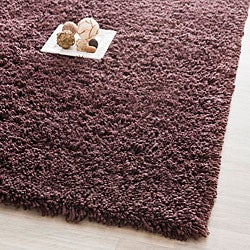 Safavieh Hand-woven Bliss Chocolate Shag Rug (7'6 x 9'6)