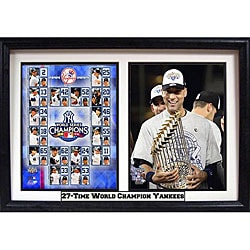 New York Yankees 2009 '27-Time World Champions' Derek Jeter Commemorative Photo