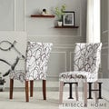 Chocolate Swirl Print Accent Chairs (Set of 2)