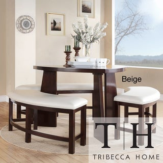 TRIBECCA HOME Paradise Merlot Triangle Shaped 4-piece Dining Set