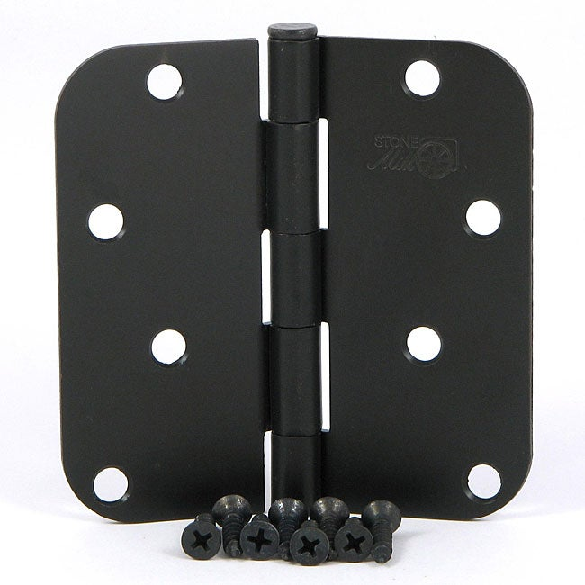 Stone mill hardware oil rubbed bronze 4 inch door hinge - Contractor pack interior door knobs ...