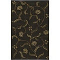 Hand-tufted Brown Wool Selenuim Rug (5' x 8')