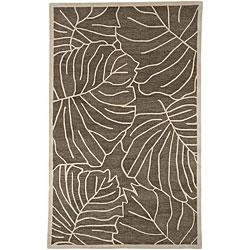 Hand-Tufted Spirit Leaf-Print New Zealand Wool Rug (5' x 8')