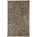 Hand-Tufted Spirit Leaf-Print New Zealand Wool Rug (5' x 8')
