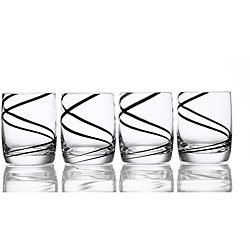 Luigi Bormioli Black Swirl 14-oz Glasses (Set of 4)