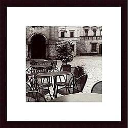 Alan Blaustein 'Caffe, Toscana' Wood Framed Print