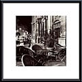 Alan Blaustein 'Cafe, Avignon' Metal Framed Art