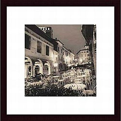 Alan Blaustein 'Caffe, Asolo, Veneto' Wood Framed Print
