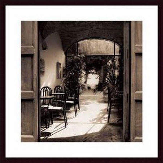 Alan Blaustein 'Caffe Spello' Wood Framed Art Print