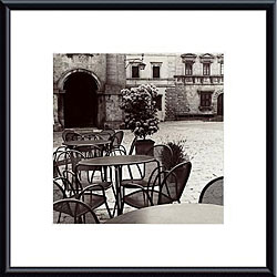 Alan Blaustein 'Caffe, Toscana' Metal Framed Art
