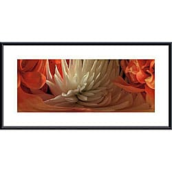Huntington Witherill 'Dahlias #4' Framed Metal Art