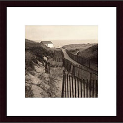 Christine Triebert 'Dune Fence' Wood Framed Art Print