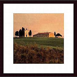 Elizabeth Carmel 'Evening Light, Tuscany' Framed Art Print