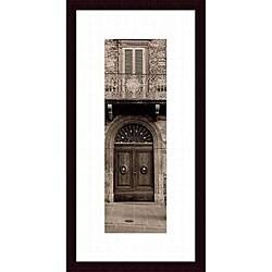 Alan Blaustein 'La Porta Via, Todi' Wood Framed Art Print