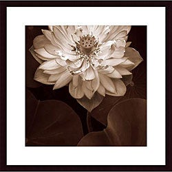Rebecca Swanson 'Lotus Welcome' Wood Framed Art Print