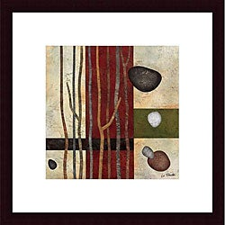 Glenys Porter 'Sticks and Stones V' Wood Framed Art
