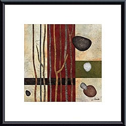 Glenys Porter 'Sticks and Stones V' Metal Framed Art