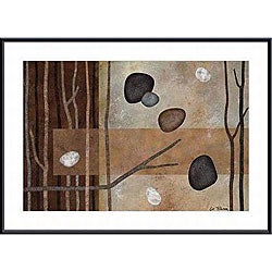 Glenys Porter 'Sticks and Stones IV' Small Framed Art Print