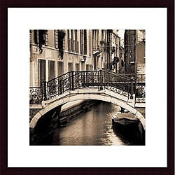 Alan Blaustein 'Ponti di Venezia No. 1' Wood Framed Art
