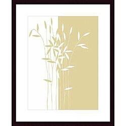 Takashi Sakai 'Reeds II' Wood Framed Art