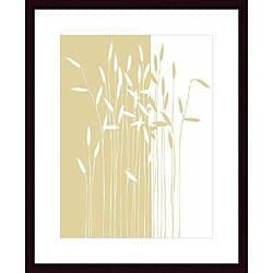 Takashi Sakai 'Reeds I' Wood Framed Art