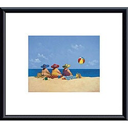Michael Paraskevas 'Three Ladies Sunning' Metal Framed Art