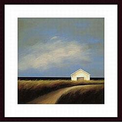 Tjasa Owen 'Road Past the Barn' Wood Framed Art Print