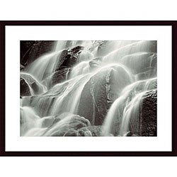 Huntington Witherill 'Waterfall, Yosemite' Wood Framed Art Print