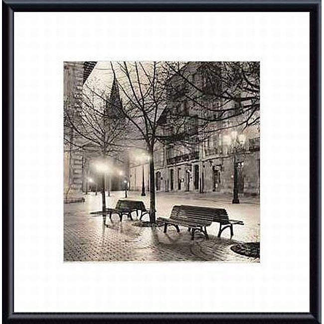 Alan Blaustein 'Plaza de Porlier, Oviedo' Metal Framed Art