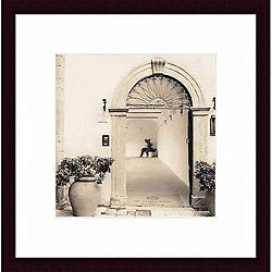 Alan Blaustein 'Pienza, Toscana' Wood Framed Print