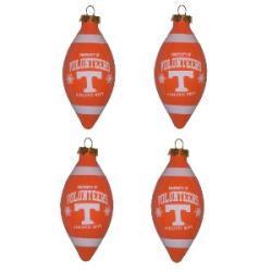 Tennessee Volunteers 4-piece Teardrop Ornament Set