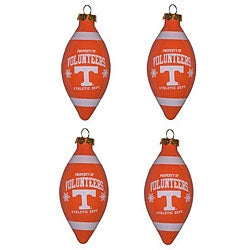 Tennessee Volunteers 4-piece Teardrop Ornament Set