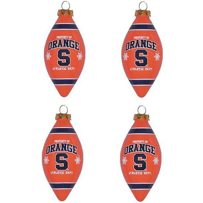 Syracuse Orangemen 4-piece Teardrop Ornament Set