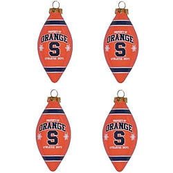 Syracuse Orangemen 4-piece Teardrop Ornament Set