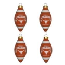 Texas Longhorns 4-piece Teardrop Ornament Set