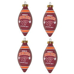 Virginia Tech Hokies 4-piece Teardrop Ornament Set
