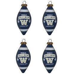 Washington Huskies 4-piece Teardrop Ornament Set