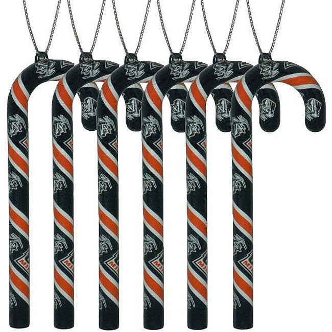 UTEP Miners 6-piece Candy Cane Ornament Set