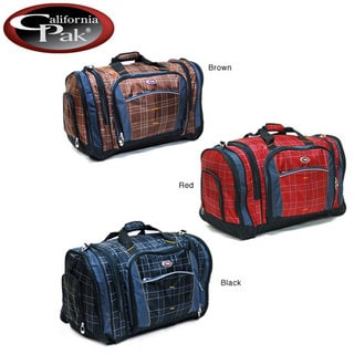 CalPak Silver Lake Plaid 22 Inch Carry On Duffel Bag
