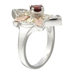 Black HIlls Gold and Silver Garnet Ring