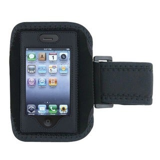INSTEN Black and Silver 230397 Sport iPhone Armband
