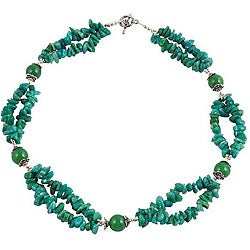 Silver Amazonite 2-strand Necklace (Thailand)