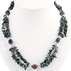 Silver Agate 2-strand Necklace (Thailand)