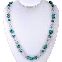 Turquoise Silver Necklace (Thailand)