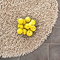 Hand-woven Bliss Taupe Shag Rug (4' Round)