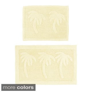 Celebration Palm Tree 2-piece Bath Rug Set