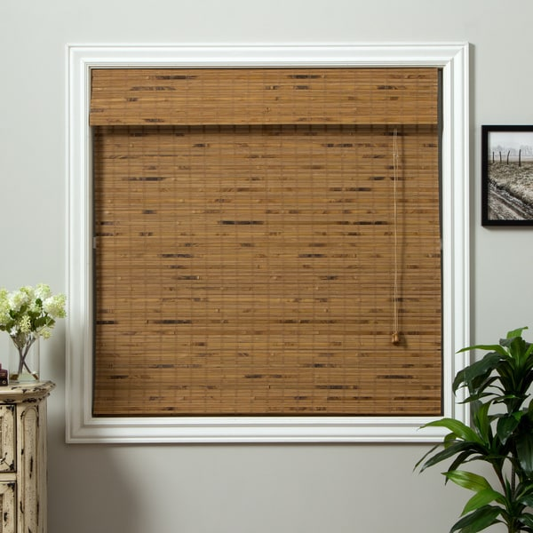 Dali Native Bamboo 54-inch Long Roman Shade