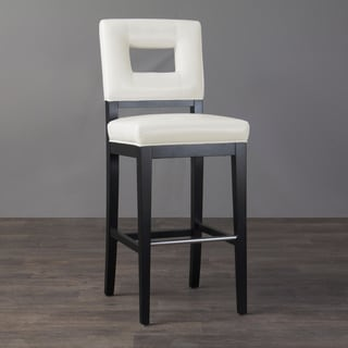 Contemporary Ivory Leather Bar Stool