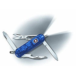 Swiss Army 'Midnight Manager' Blue 10-tool Pocket Knife