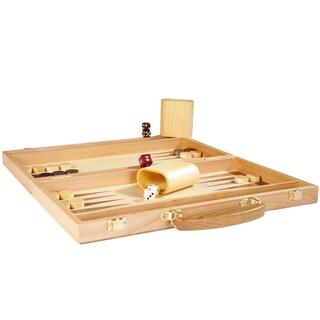 Deluxe Wooden Backgammon Set